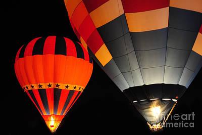 Hot Air Balloon At Night. Original by Weerayut Kongsombut