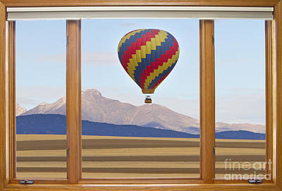 Striking Photograph - Hot Air Balloon Colorado Wood Picture Window Frame Photo Art Vie by James BO  Insogna