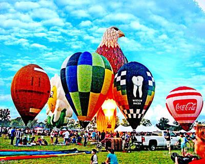 Digital Art - Hot Air Balloon Festival Ascension Parish La by Lizi Beard-Ward