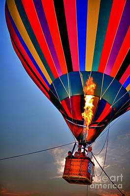 Photograph - Hot Air Balloon Fire by Jeanne  Woods