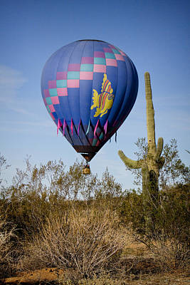 Hot Air Balloon Flight Over The Lush Arizona Desert Art Print by James BO  Insogna