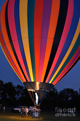 Photograph - Hot Air Balloon Glow by Jeanne  Woods