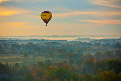 Photograph - Hot Air Balloon In Fall Colors by Anthony Doudt