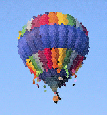 Space Photographs Of The Universe - Hot Air Balloon in Stained Glass by Betsy Knapp