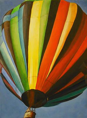 Hot Air Balloon Art Print by Jessica J Murray