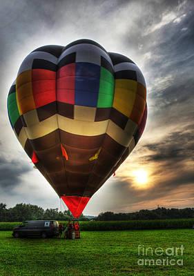 Photograph - Hot Air Ballooning At Dusk - Hot Air Balloon  by Lee Dos Santos