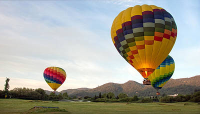 Photograph - Hot Air Balloons - Napa Valley by Gary Rose