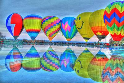 Photograph - Hot Air Balloons At Eden Park by Jeremy Lankford