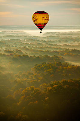 Photograph - Hot Air Balloon Sunrise by Anthony Doudt