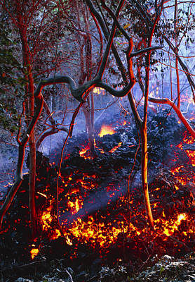 Hot Ash From Kilauea Volcano Art Print by G. Brad Lewis