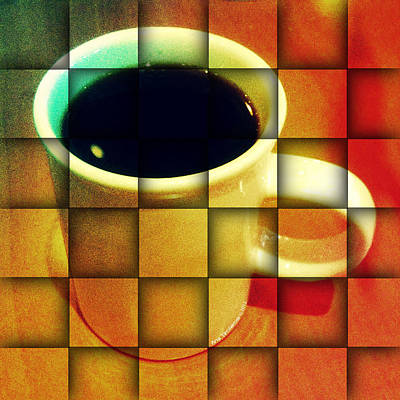 Print featuring the digital art Hot Coffee 02 by Ana Tirolese