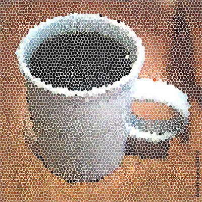 Print featuring the digital art Hot Coffee 03 by Ana Tirolese