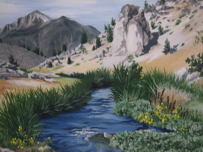 Painting - Hot Creek by Barbara Prestridge