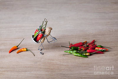 Peppers Photograph - Hot Delivery 02 by Nailia Schwarz