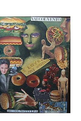 Life Is What Mixed Media - Hot Dog Monna Lisa by Francesco Martin