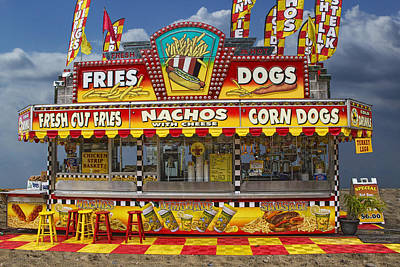 Hot Dog Vendor Stand Art Print by Randall Nyhof