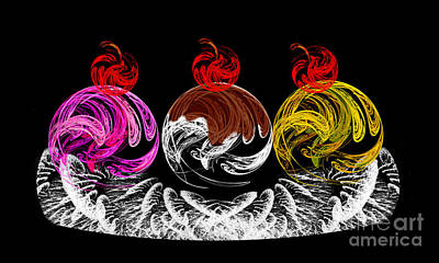 Strawberry Digital Art - Hot Fudge Ice Cream Boat by Andee Design