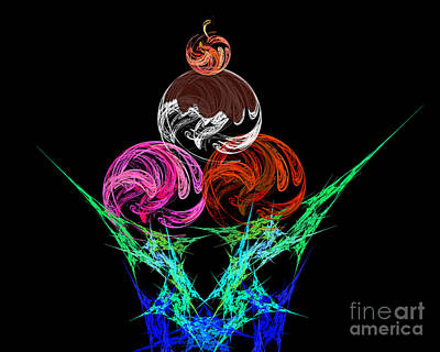 Digital Art - Hot Fudge Sundae by Andee Design