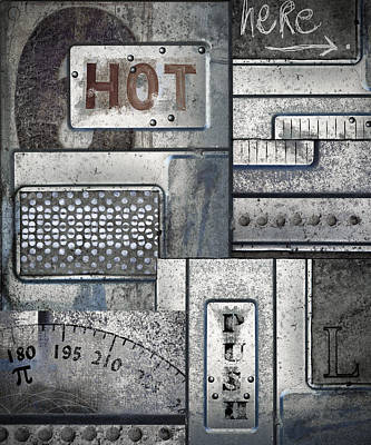 Montage Photograph - Hot Here by Carol Leigh