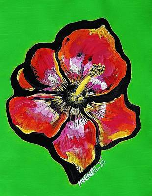 Painting - Hot Hibiscus by Michael Henzel