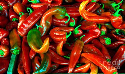 Hot Peppers Art Print by Robert Bales