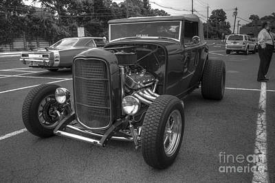 Photograph - Hot Rod Black And White by Lee Dos Santos