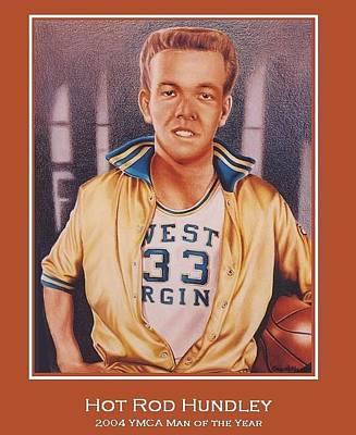 Utah Jazz Drawing - Hot Rod Hundley by Cory McKee