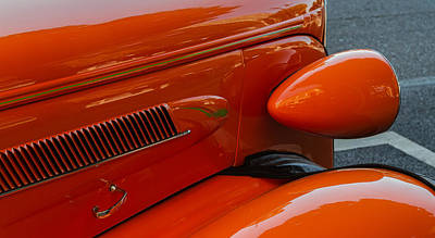 Art Print featuring the photograph Hot Rod Orange by Ken Stanback