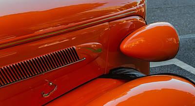 Hot Rod Orange Art Print by Ken Stanback