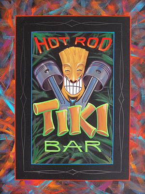 Painting - Hot Rod Tiki Bar by Alan Johnson