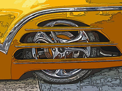 Hot Rod Wheel Cover Art Print by Samuel Sheats