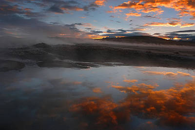 Hot Springs In The Bolivian Altiplano. Art Print by Eric Bauer
