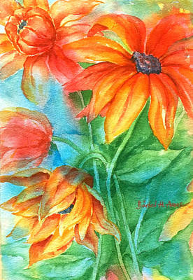 Painting - Hot Summer Flowers by Barbel Amos
