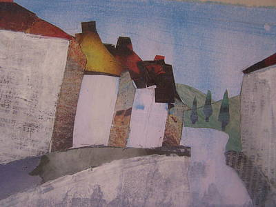 Rooftop Mixed Media - Hot Summer's Day by Sandra Cox