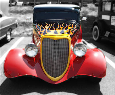 Art Print featuring the photograph Hot Wheels   by Raymond Earley