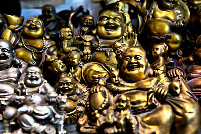 Art Print featuring the photograph Hotei Gathering by Edward Myers