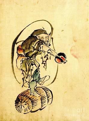 Hotei The God Of Good Fortune 1840 Art Print