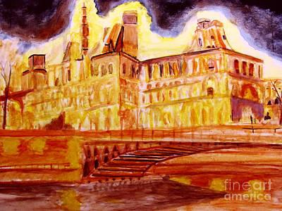 Painting - Hotel De Ville by Stanley Morganstein