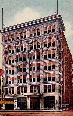 Painting - Hotel Edward And Majestic Theatre In Indianapolis In In 1912 by Dwight Goss