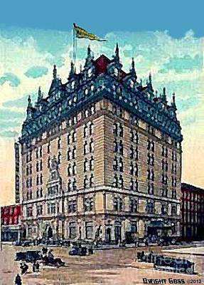 Painting - Hotel Navarre In New York City 1910 by Dwight Goss