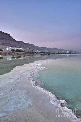 Hotel On The Shore Of The Dead Sea Art Print by Noam Armonn