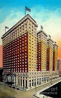 Painting - Hotel Pennsylvania In New York City In The 1920's by Dwight Goss