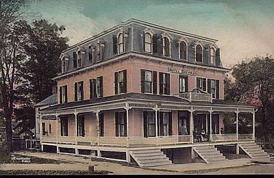 Photograph - Hotel Sherwood Livingston Manor Ny by EricaMaxine  Price