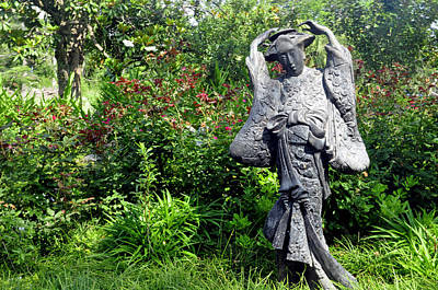 Photograph - Houmas House Statue by Helen Haw