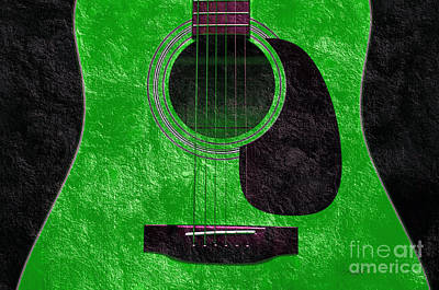 Photograph - Hour Glass Guitar Green 4 T by Andee Design