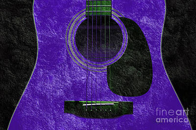 Photograph - Hour Glass Guitar Purple 3 T by Andee Design