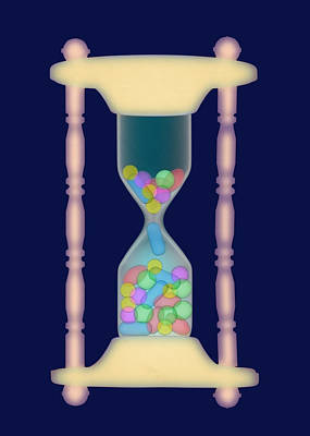 Time Capsule Photograph - Hourglass, X-ray by D. Roberts