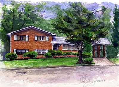 Painting - House 5 by John D Benson