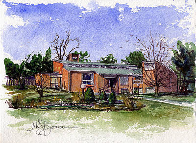Painting - House 7 by John D Benson