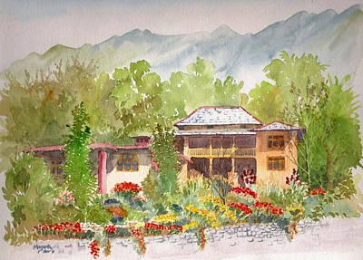 Bir Painting - House And Garden At Bir by Mayank M M Reid